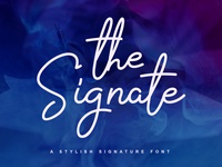 The Signate - a stylish signature font