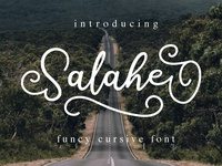 Salahe - a funcy cursive font