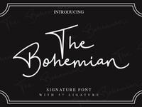 The Bohemian a signature font