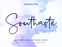 Southaste a modern signature font