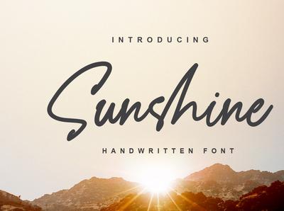 Sunshine handwritten font