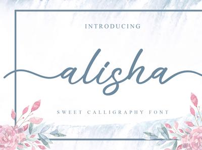 alisha handwritten font