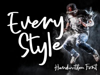 Every Style handwritten font
