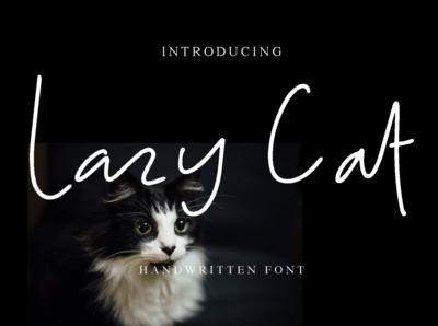 Lazy Cat handwritten font