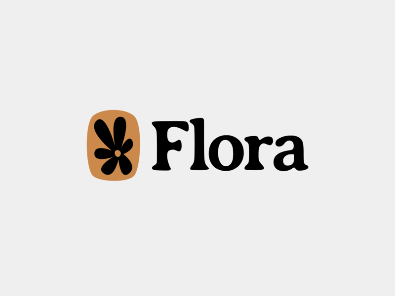Flora Restaurant black logotype black white creative gold brand re-brand icon logotype resaurant logo