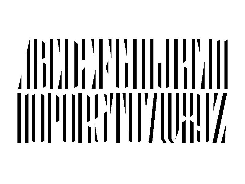 Electric Full Alphabet black  white contrast minimal blackletter alphabet lettering