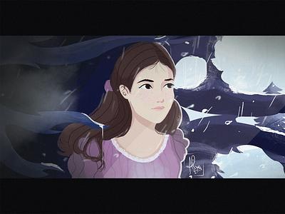 "Clara from The Nutcracker and the Four Realms ""Winter"" nutcracker disney illustration design"