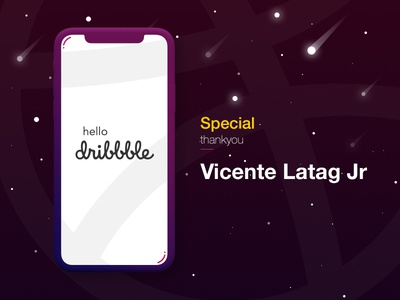 Hello Dribbble meteor space invite thankyou dribbble hello