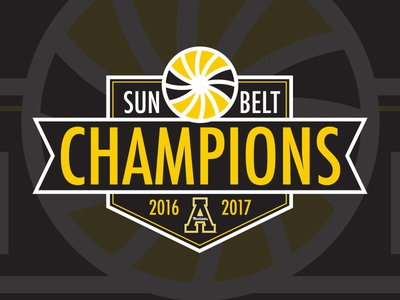 Sun Belt Conference Champions Logo athletics champions football conference logo sunbelt belt sun appalachian appstate state app
