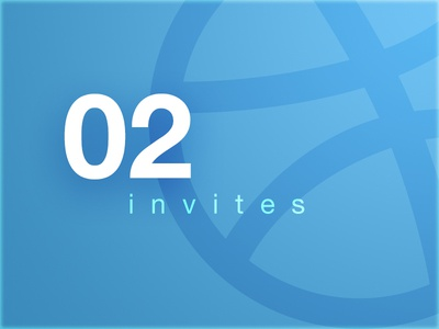 2 Dribble Invites invitation draft join 2 dribbble hello invites invite