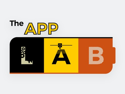 The App Lab Logo printing battery illustration gears 3d printer lab logo appstate maker space makerspace state app