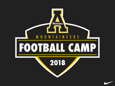 AppState Football Camp Logo summer 2018 mountaineers camp logo football state university appalachian state app appstate