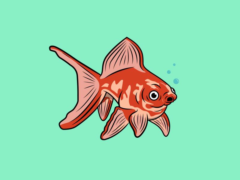 Goldfish Illustration icon drawing illustration ai vector design