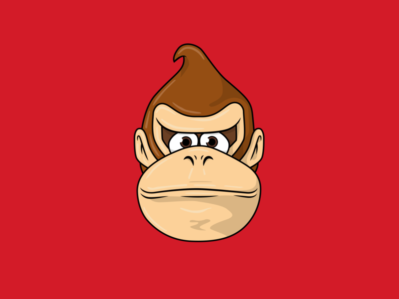 Donkey Kong Illustration character design icon drawing illustration ai vector design