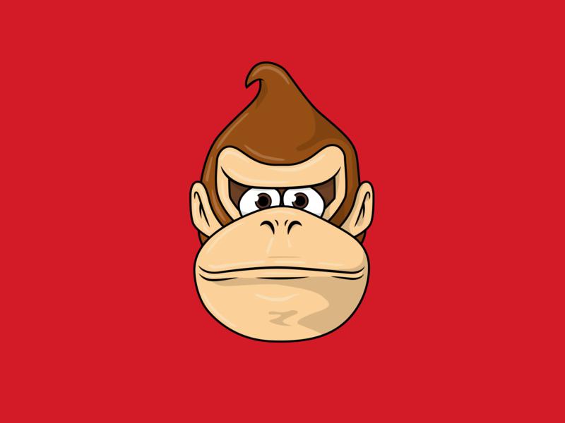 Donkey Kong Illustration character design icon drawing illustration ai vector design