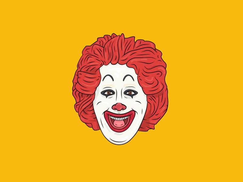 Ronald Mcdonald Illustration character design icon drawing illustration ai vector design