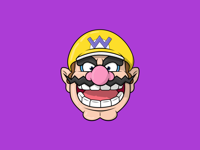 Wario Illustration character design icon drawing illustration ai vector design