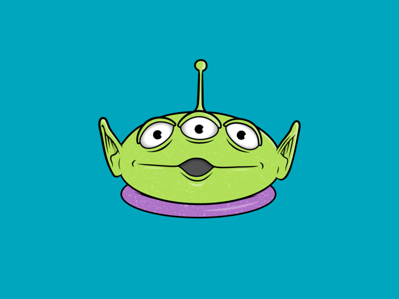 Toy Story Alien Illustration character design icon drawing illustration ai vector design