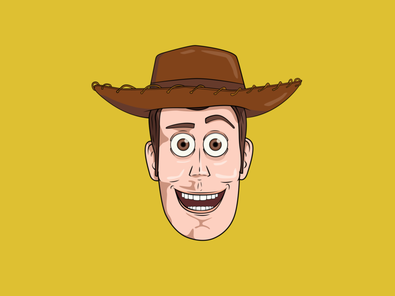Woody Illustration character design icon drawing ai illustration vector design
