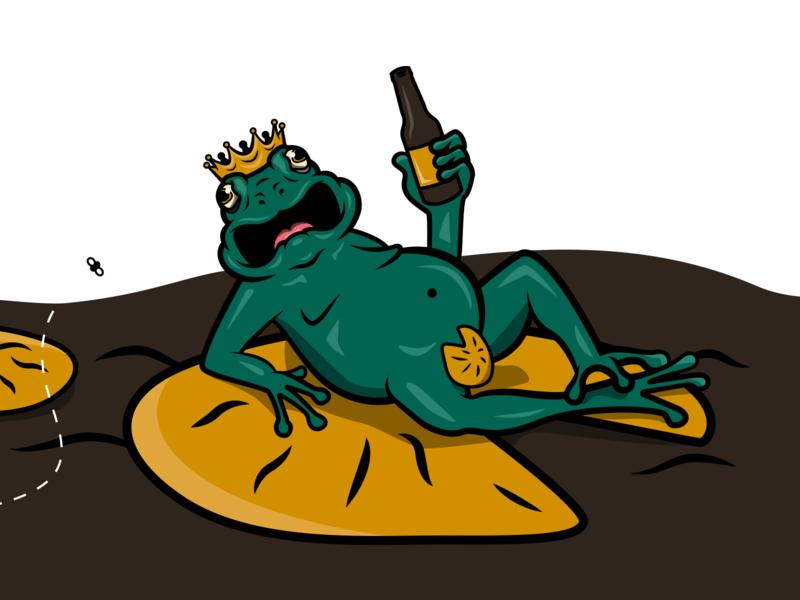 Barking Frog Illustration brand and identity branding character design logo icon drawing illustration ai vector design