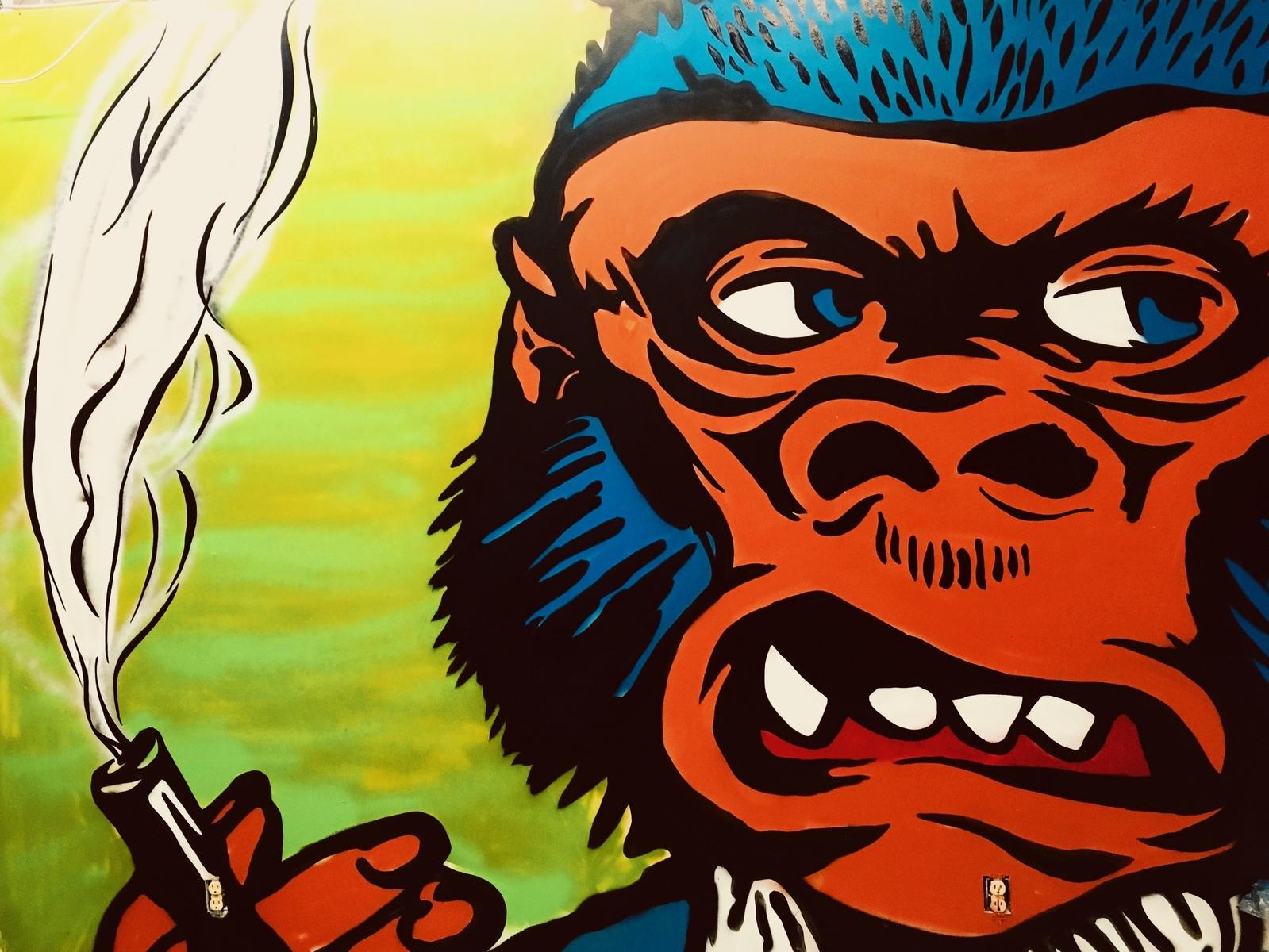 smokin monkey by jake walker dribbble