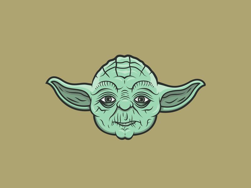 Yoda Illustration emoji sticker yoda character design icon drawing illustration ai vector design