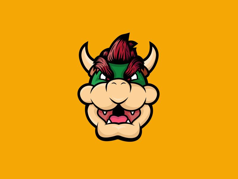Bowser Illustration nintendo bowser mario mariobros super mario character design icon drawing illustration ai vector design