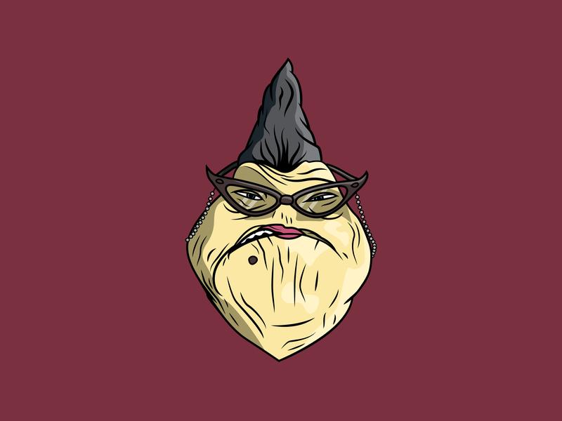 Roz Illustration disney pixar slug monster monsters inc character design logo icon drawing ai illustration vector design