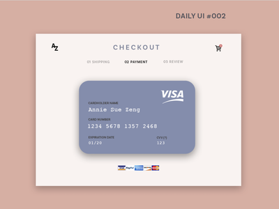 DAILY UI #002 daily 100 checkout page web photoshop daily ui 002 design
