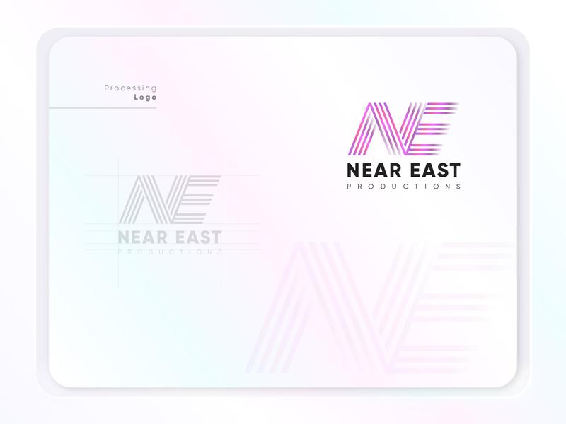 Near East-N+E app identity branding design typography logo