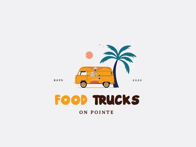 Food Trucks illustration design identity food service food food and drink food delivery food illustration food app food truck logo