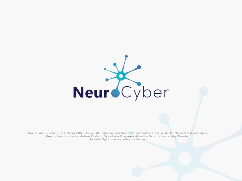 NeuroCyber design logo cyber neurology neuron neuro