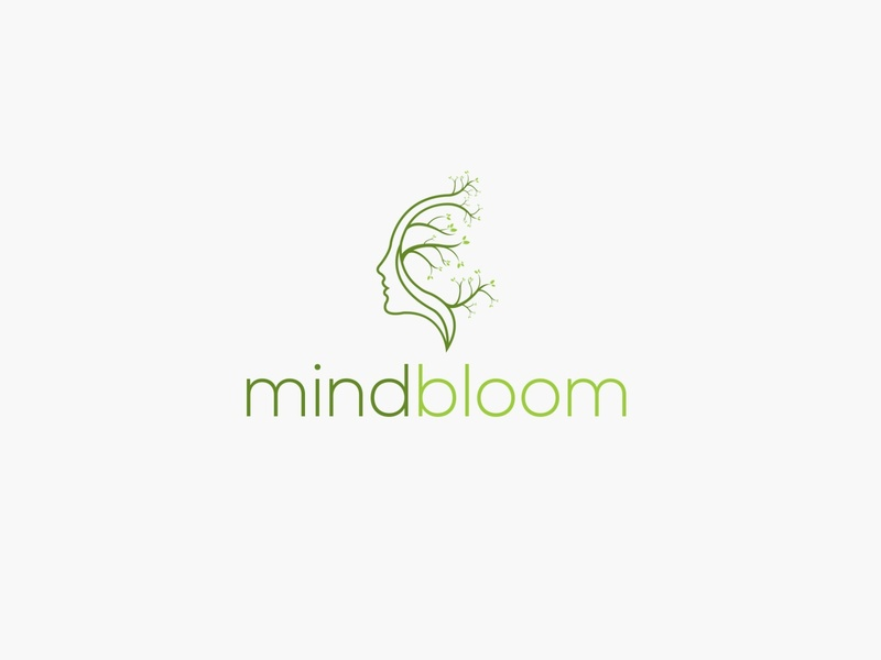 mindbloom icon typography identity design logo mindbloom minimalist logo bloom mind