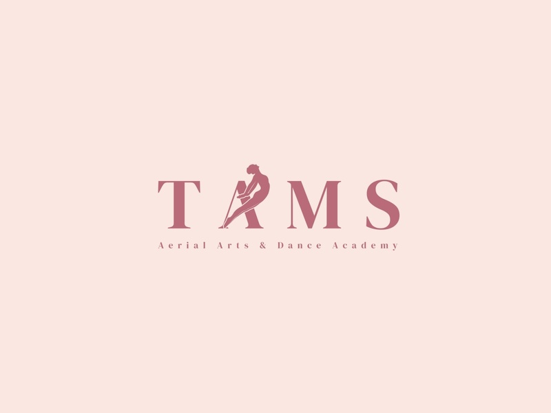 TAMS dancers dance academy dance music dance party dancer typography identity design logo dancing