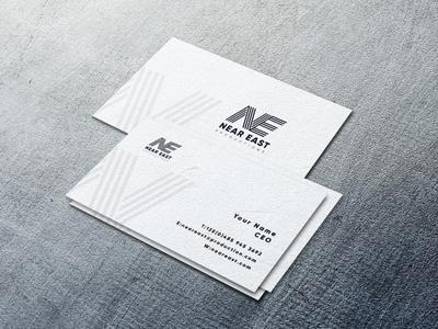 Neareast branding typography identity design logo