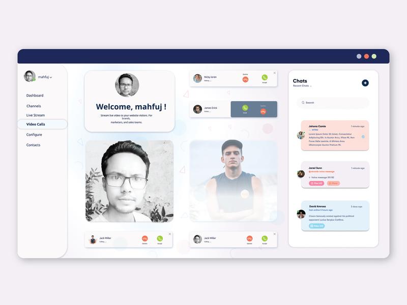 Dashboard Design video app video calling dashboard design design