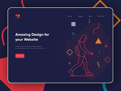 Hero Section Landing Page Design girls night out girlsillustration girls night girls identity design web page design illustration