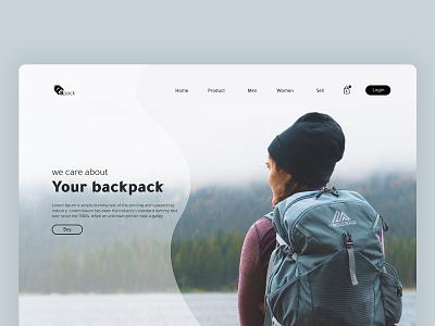Travel Website UI/UX Design design ux ui branding bag design backpacks e-commerce app e-commerce shop e-commerce design travelling travel agency travel