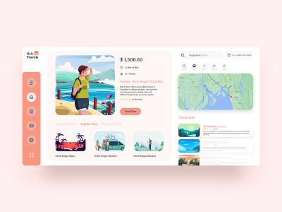 Hale Travels-Dashboard dashboard design app ux ui travel travel agency travel design dashboard design travel app dashboard ui