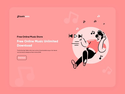 Online Music Store music album music player ui web design app song music store ui ux