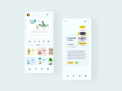 Body Massage App Design ux ui identity medical app