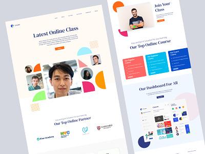 Online Class Landing Page Design online class ui design hero omage web page desing landing page online landing page design design