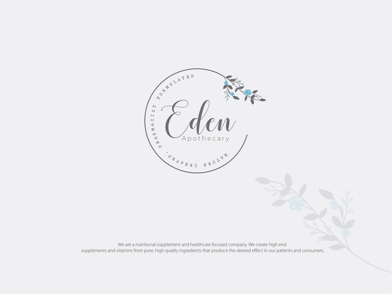 Logo : Eden-1 supplements nutritional brand illustration vector cosmetic cosmetic packaging design corporate branding typography identity logo