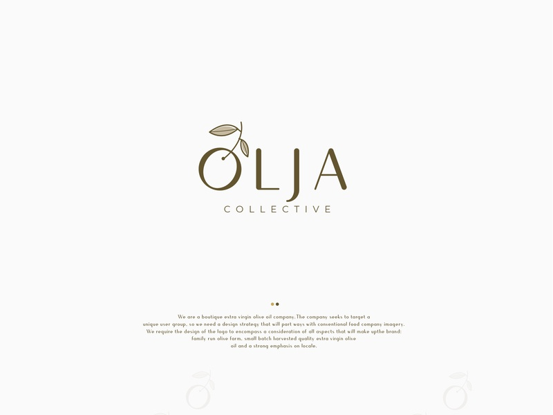 Olja vector icon illustration brand cosmetic packaging corporate branding typography branding identity logo