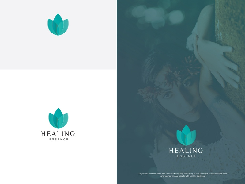 Healing leaf icon brand cosmetology identity cosmetic cosmetic packaging design logo branding