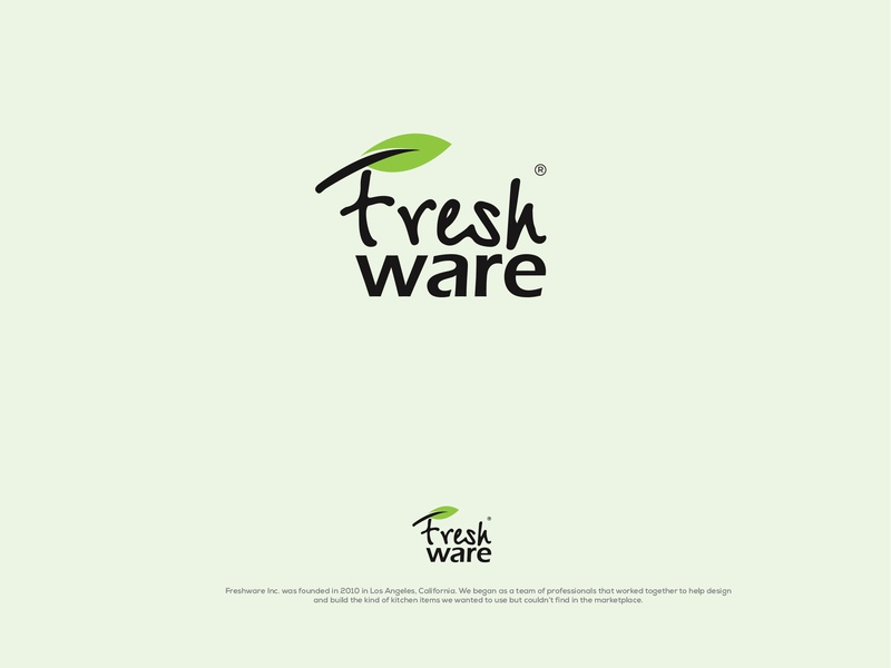 Fresh Ware fresh vegetable vegetable fresh design fresh food food and beverage brand design identity typography branding logo