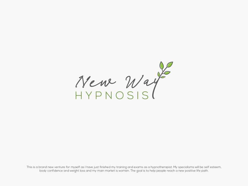 New way Hypnosis corporate branding brand design typography logo hypo hypnosis leaf logo leaf