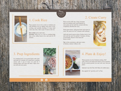 Recipe Card Design (Takeout Kit- Back Page)