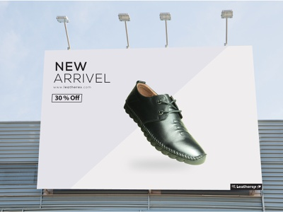 Leatherex Advertisement facebook ad billboard design design advertisment advertising shoe design shoe