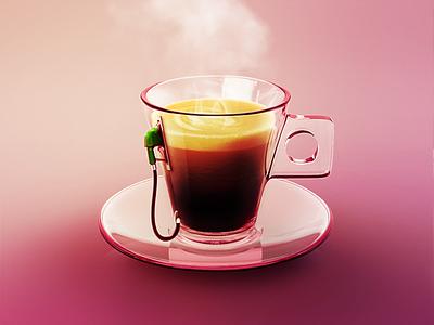 Daily energy boost art digital 2018 retouch digitalart boost energy gasoline cup coffee hot morning
